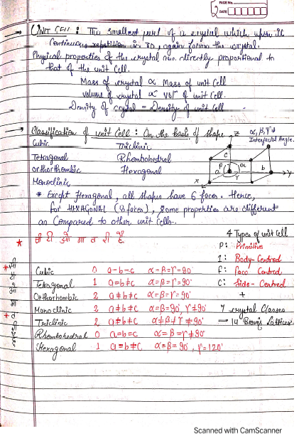 Class 12: Physical Chemistry Handwritten Notes