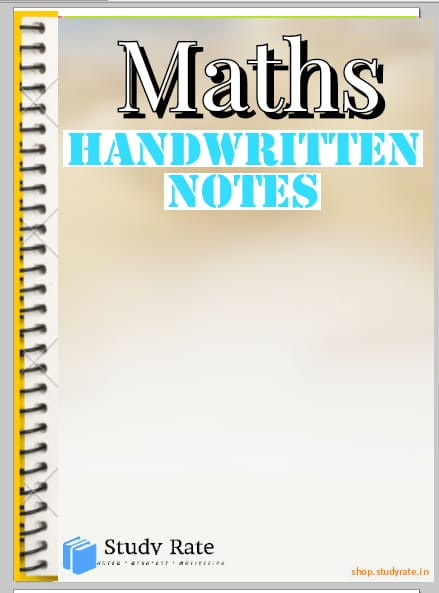 Math Handwritten NOtes for JEE Mains & Advanced of Toppers