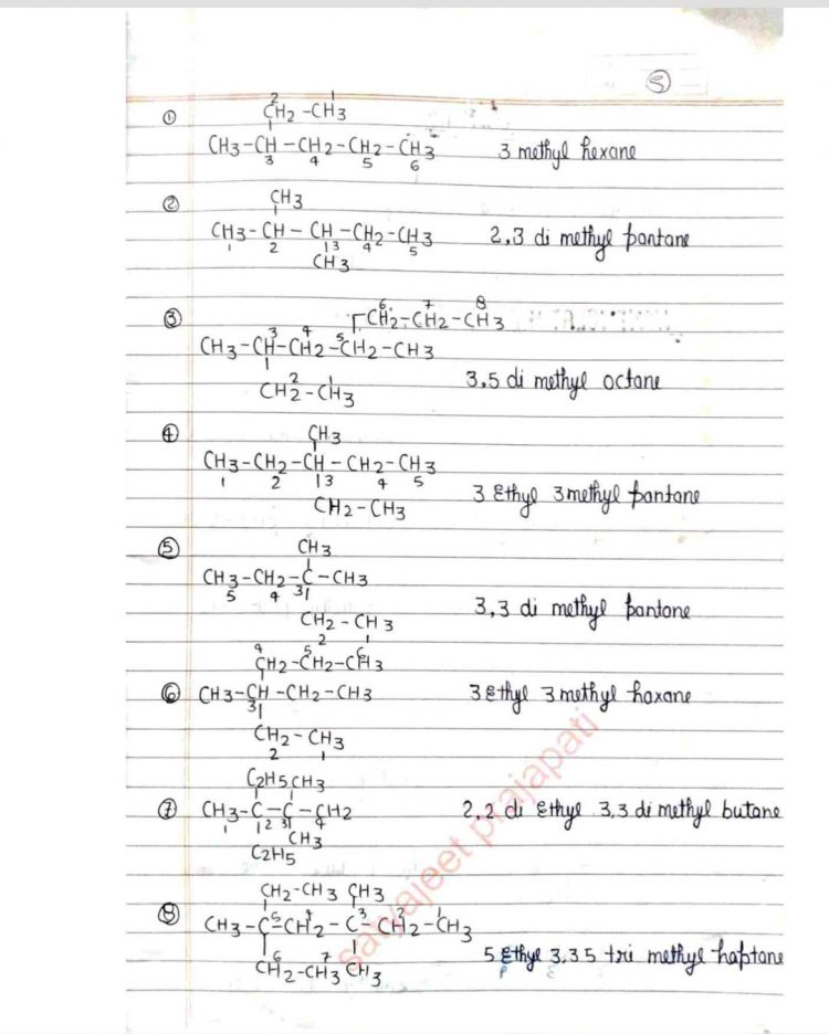 Bsc 1st year Complete Organic Chemistry Handwritten Notes